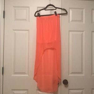 Express High low hot pink skirt XS